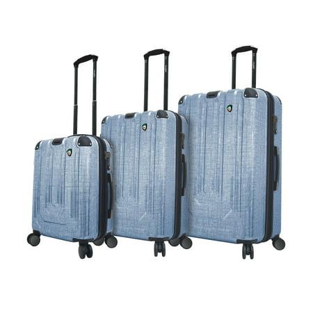 Leather Italian Genuine Luggage Set - Mia Toro ITALY Macchiolina Polish Hardside Spinner 3 Piece Luggage Set