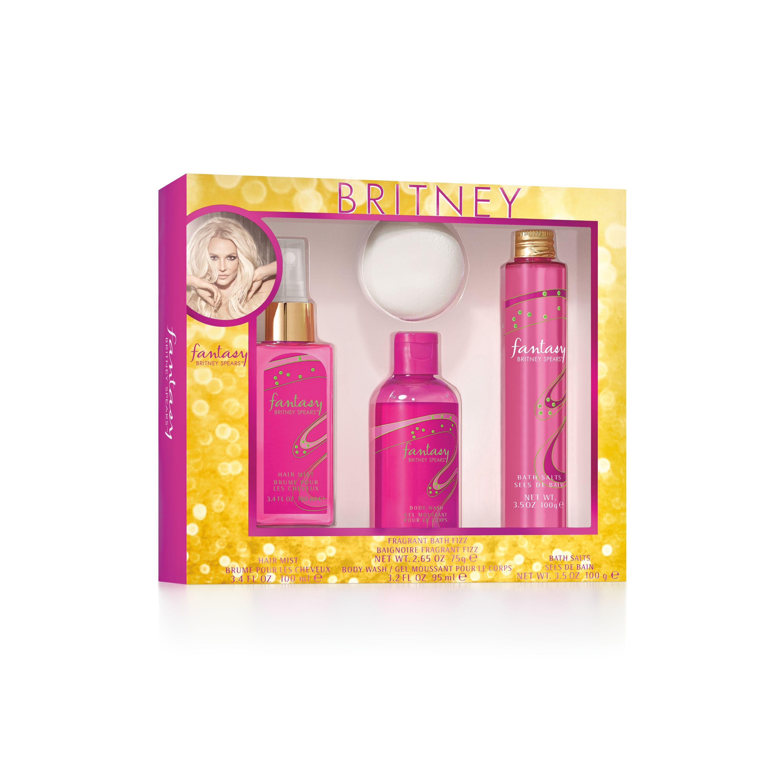 Britney Spears Fantasy Fragrance Bath Set for Women, 4 pc