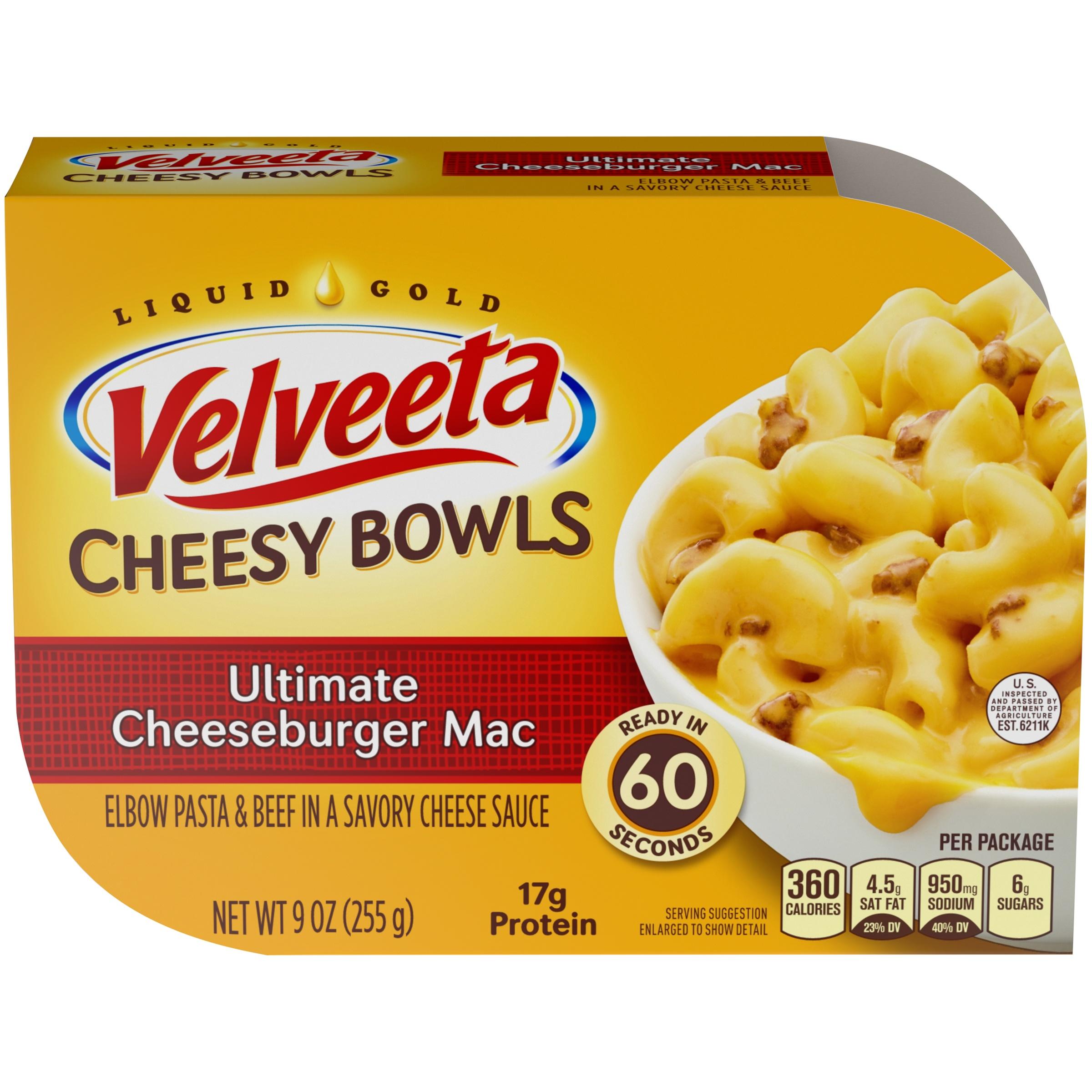 Velveeta Ultimate Cheeseburger Mac Cheesy Bowls 9 oz. Tray