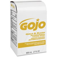 Gojo®, GOJ912712, Gold & Klean Antimicrobial Lotion Soap, 1 Each, 27.1 fl oz (800 mL)