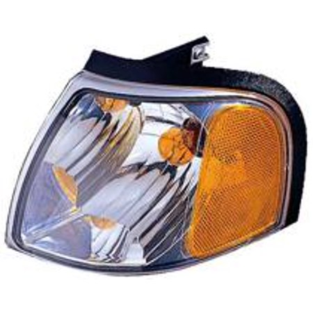 Compatible 2001 - 2010 Mazda B3000 Corner Light Assembly / Lens Cover - Left (Driver) 1F70-51-131 MA2520119 Replacement For Mazda B3000