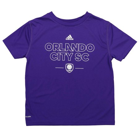 Adidas MLS Kids Orlando City SC Club Authentic Tee, Purple for $<!---->