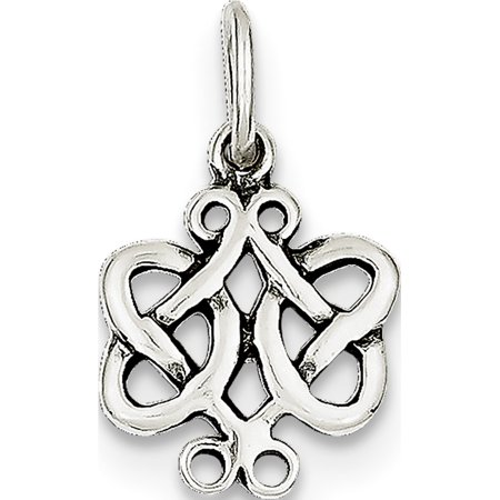 - Leslies Fine Jewelry Designer 925 Sterling Silver Antiqued Scroll Celtic Knot (13x21mm) Pendant Gift