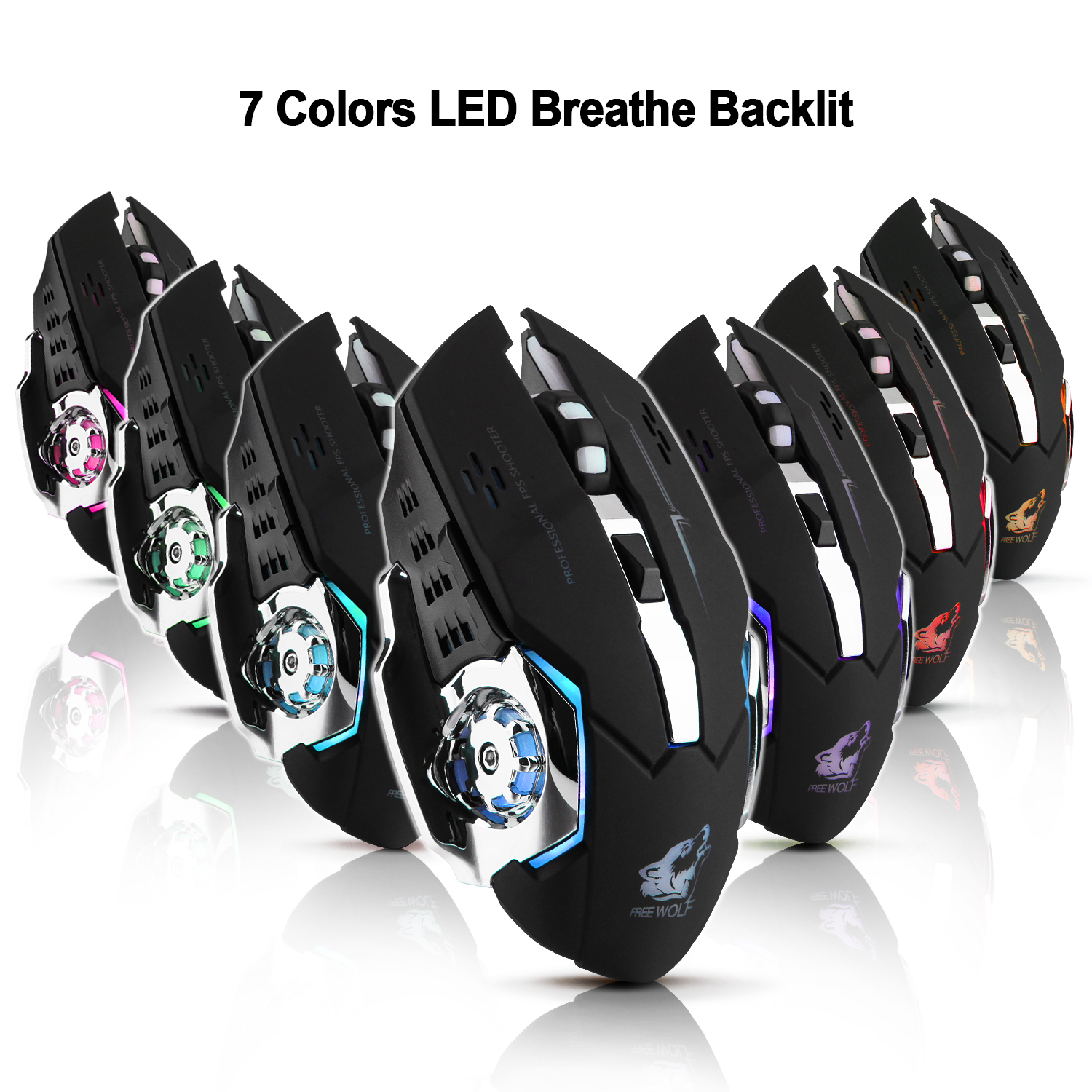 AGPtek Adjustable 2.4G Wireless Professional Gaming Mouse for Notebook PC Laptop Computer