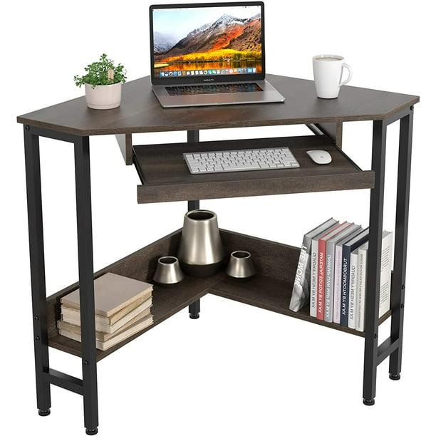 Cinak Computer Corner Desk Triangle, Images Of Small Corner Desks