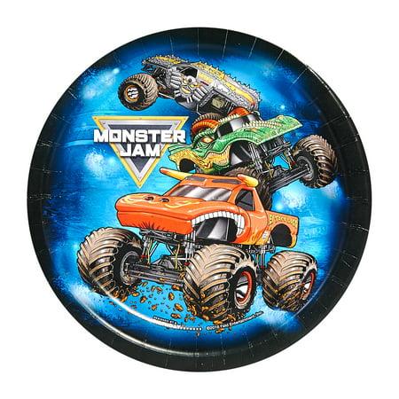 Monster Jam Party Supplies 8 Pack Dessert Plates