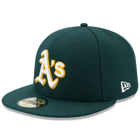Oakland Athletics New Era Road Authentic Collection On Field 59FIFTY Performance Fitted Hat - Green