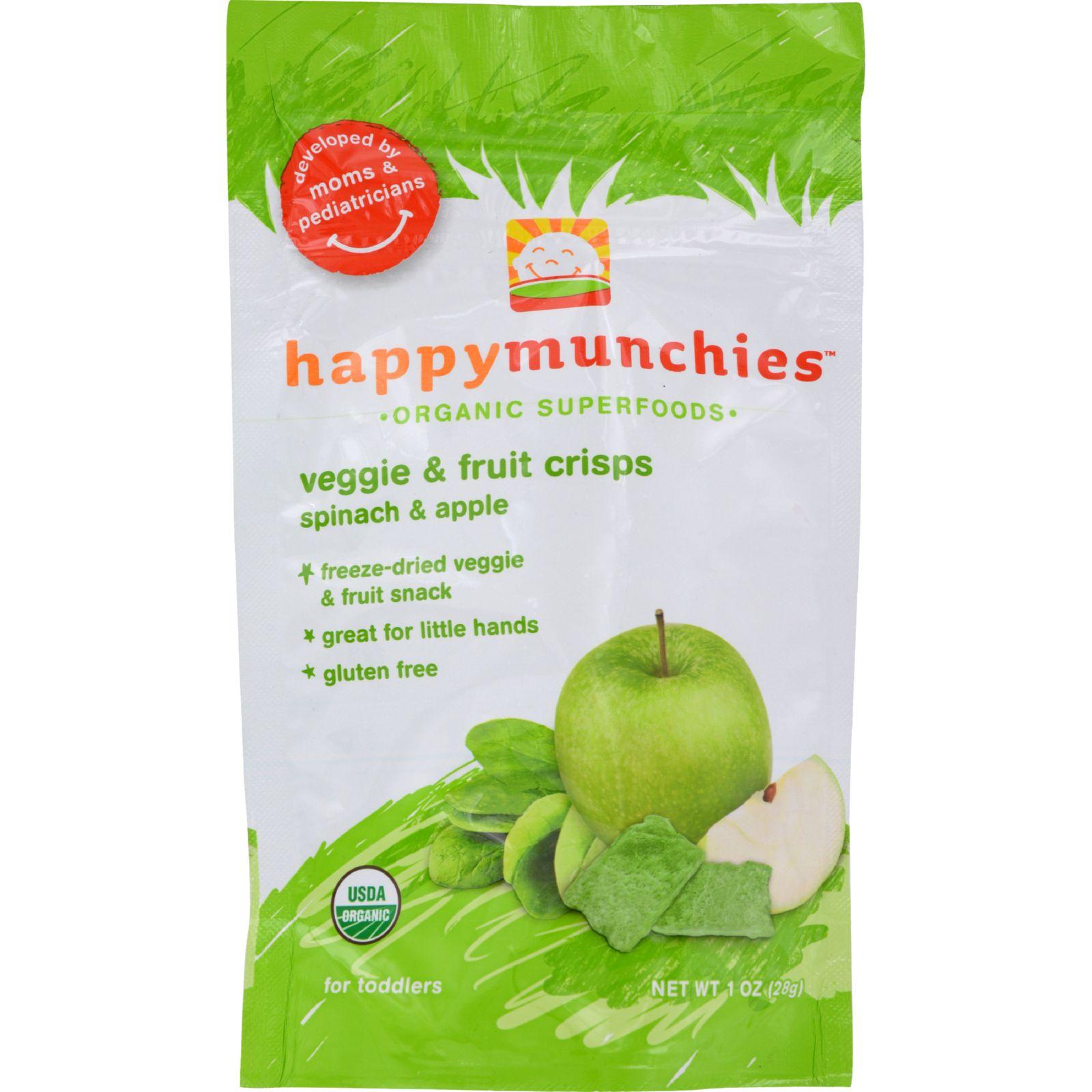 Happy Munchies Fruit and Veggie Crisps - Organic - Spinac...
