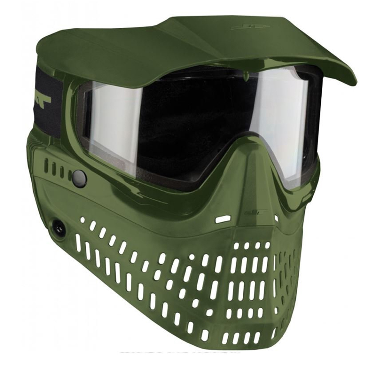 JT Spectra Proshield Paintball Mask w/Thermal Lens Goggles - OLIVE