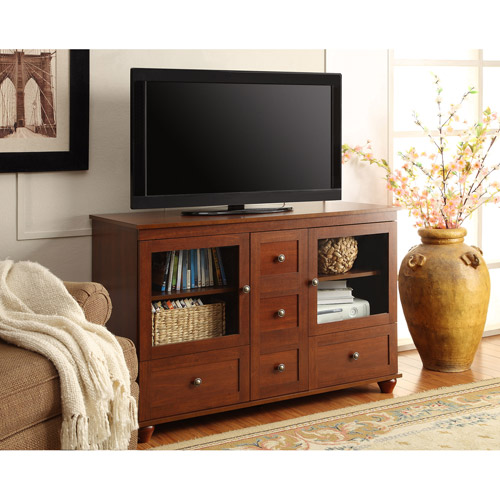 Altra Cherry Tv Stand With Mount For Tvs