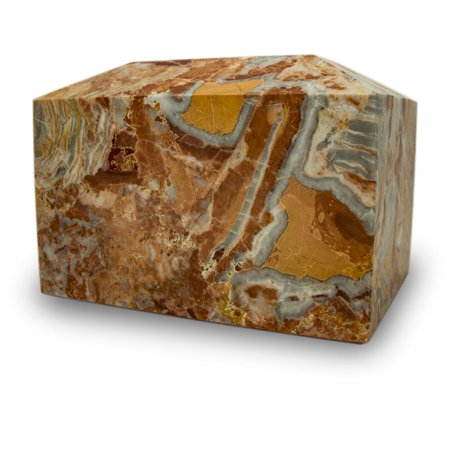 Faux Marble Urn - Marble Box Cremation Urn - Extra Large 250 Pounds - Rosemary Pink Rosemary