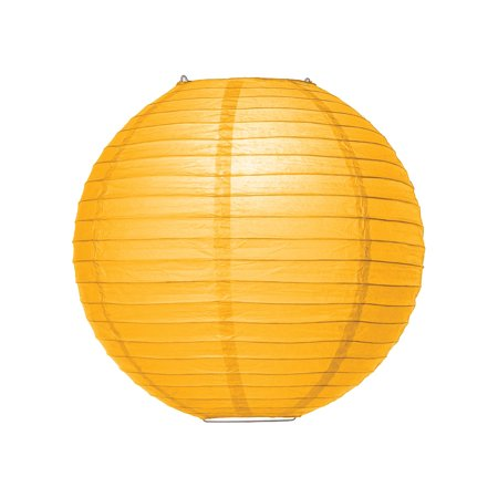 Premium Paper Lantern, Clip-On Lamp Shade (10-Inch, Parallel Style Ribbed, Sunflower Yellow) - Chinese/Japanese Hanging Decoration - For Parties, Weddings, and Homes](Sunflower Themed Wedding)