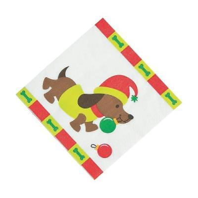 IN-13750114 Christmas Tails Luncheon Napkins 8PK