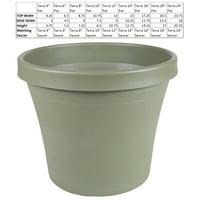 "Terra Pot Planter 14"" Living Green"
