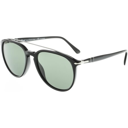 Persol Men's Polarized PO3159S-901458-55 Black Aviator (Persol Polarized)