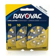 Rayovac Size 10 Hearing Aid Batteries, 24-Pack L10ZA-24ZMB