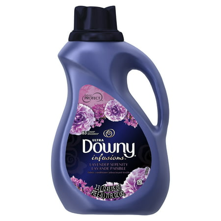 Serenity Lavender - Downy Infusions Lavender Serenity Liquid Fabric Conditioner (Fabric Softener), 77 fl oz 83 loads