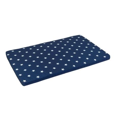 KidKraft Toy Box Cushion - White and Navy Stars, Soft Fabric Cover