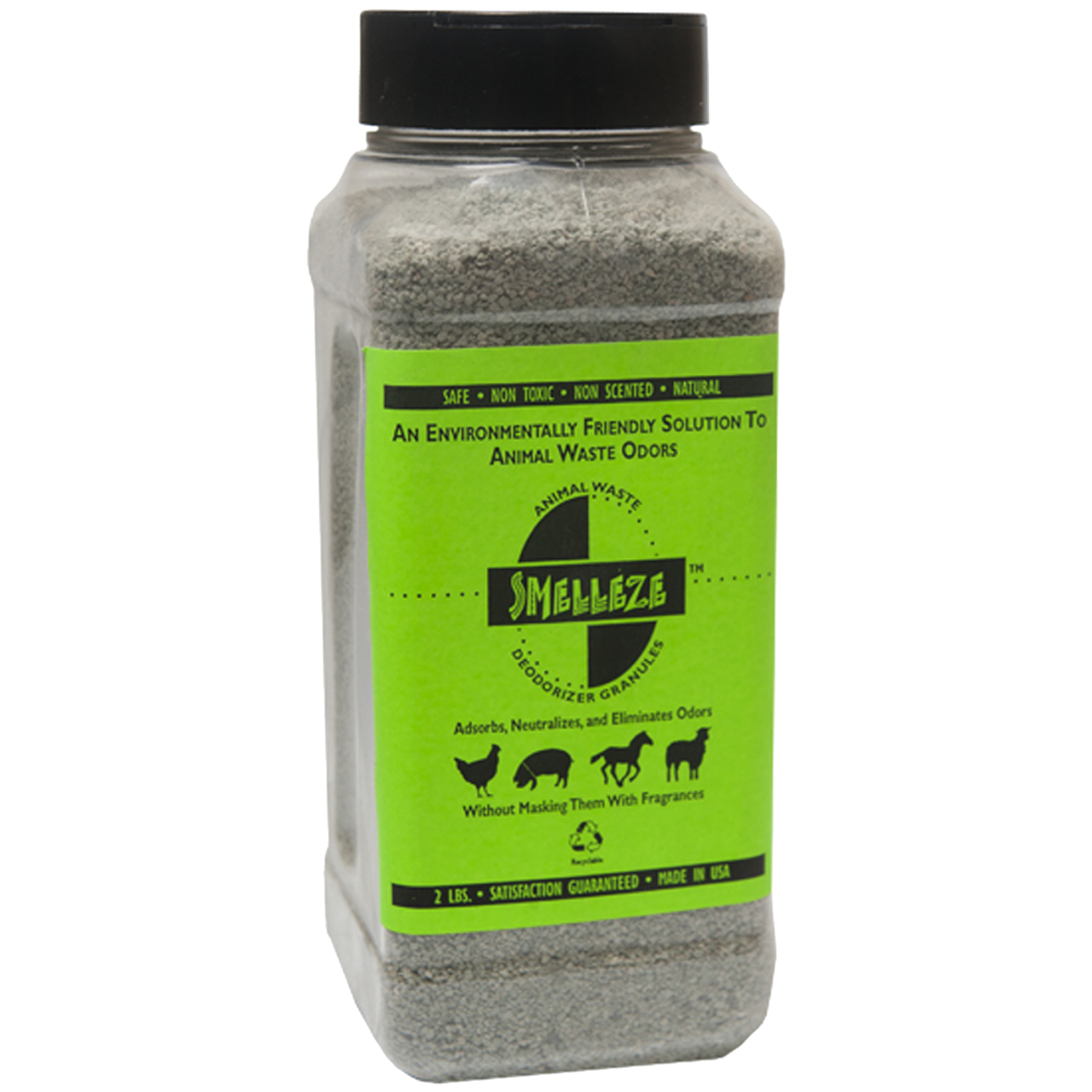 SMELLEZE Natural Animal Waste Odor Removal Deodorizer: 50 lb. Granules Rid Feces & Urine Stench