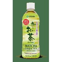 (12 Bottles) Oi Ocha Matcha Green Tea Unsweetened, 16.9 Fluid Oz.