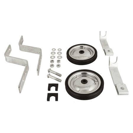 Sunlite Adjustable Heavy Duty Training Wheels Silver Black Kids Fits 14-20inch