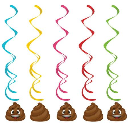 Poop Emoji Dizzy Danglers, 5 pk