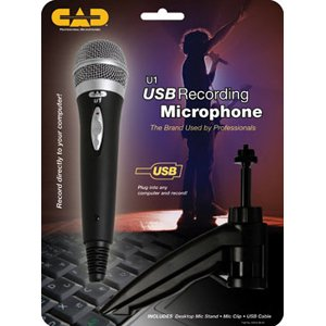USB Cardioid Dynamic Handheld Microphone with Tripod Stand, 10