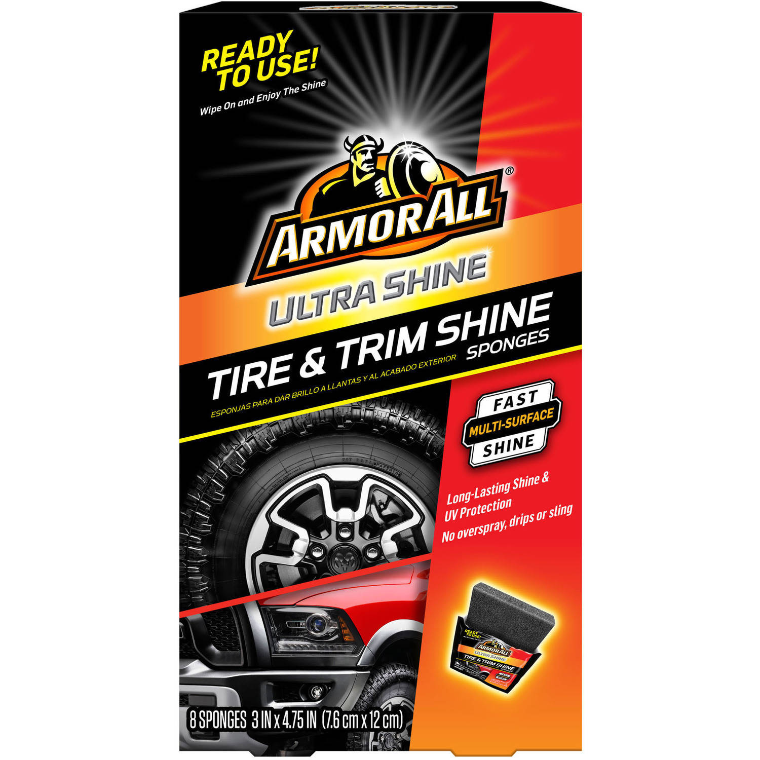 Armor All Ultra Shine Tire & Trim Sponge 8 count