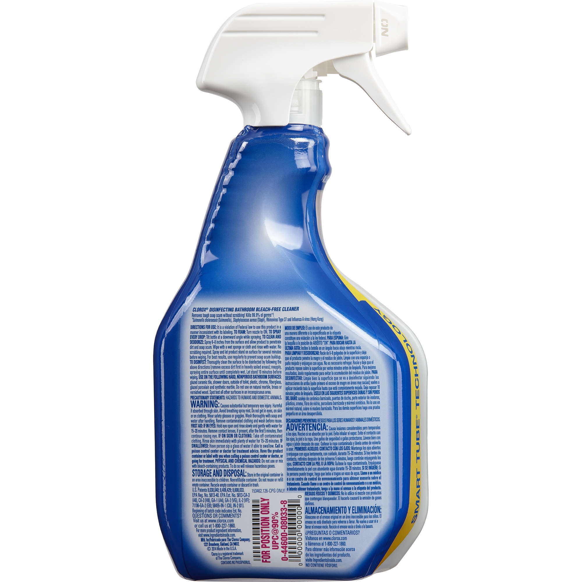 Bathroom cleaner without bleach - Clorox Disinfecting Bathroom Cleaner Spray Bottle 30 Oz Walmart Com