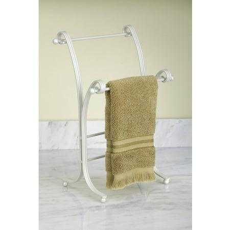 InterDesign York Lyra Metal Towel Holder Stand for Bathroom Vanities