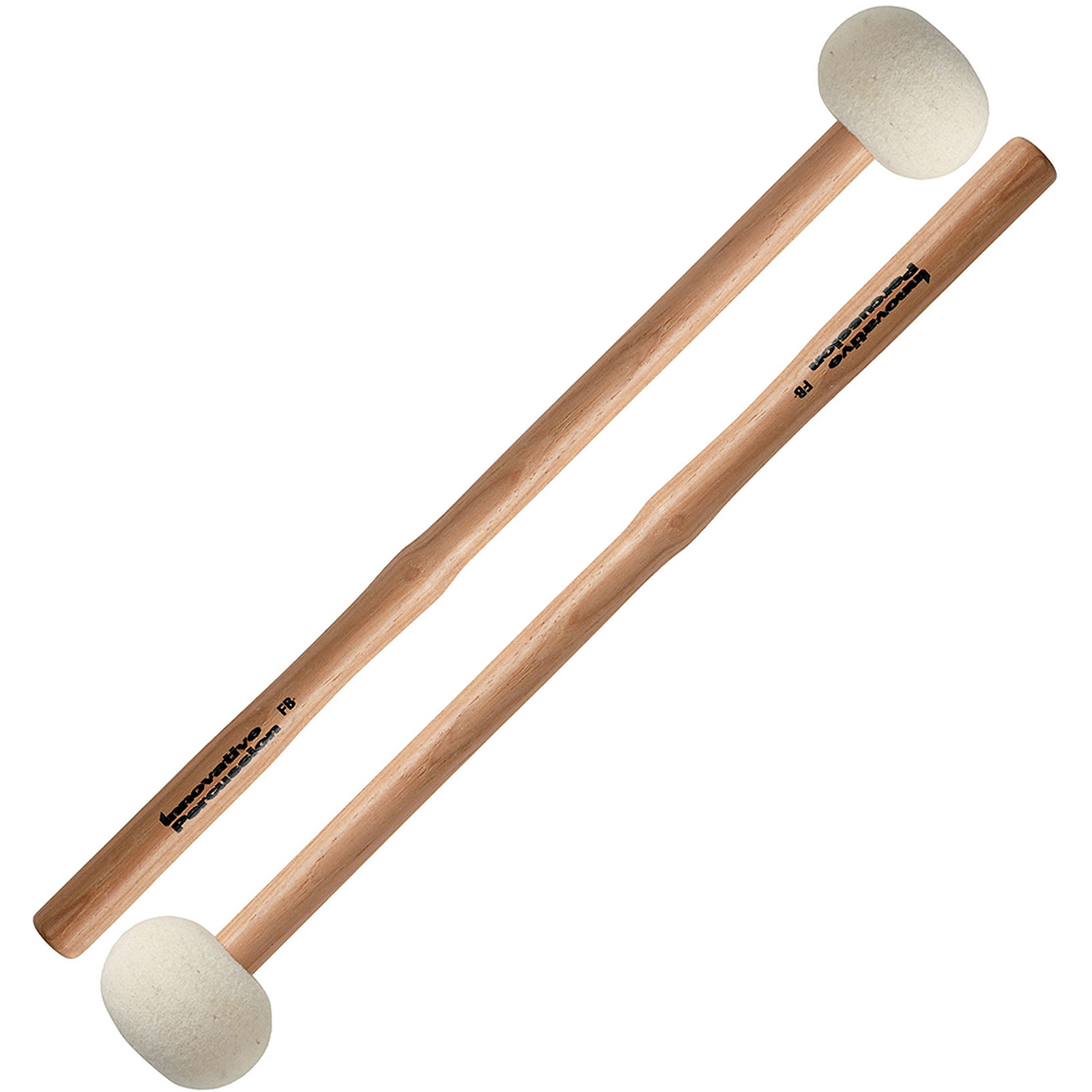 Innovative Percussion FB4 Hard Marching Bass Drum Mallets w/ Heartwood Hickory Shafts
