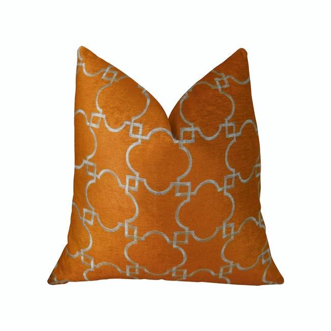 Plutus PBRAZ176-2036-DP Nadiya Orange & White Handmade Luxury Pillow, 20 x 36 in. King - image 1 of 1