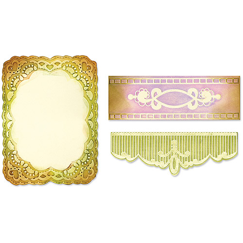 Sizzix Textured Impressions Embossing Folders, Oval Lace