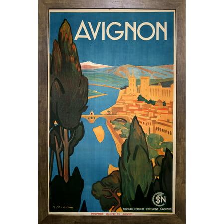 avignon vinapp116854 print 20 x12 5 by vintage apple collection in a cafe mocha. Black Bedroom Furniture Sets. Home Design Ideas