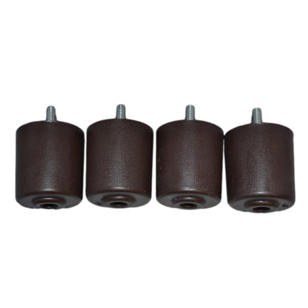 Bendable Legs (2 Inches (Set of 4) Plastic - Brown Furniture Legs )