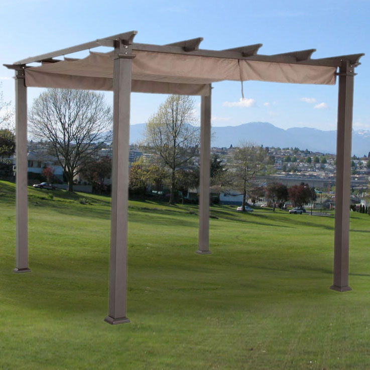 Garden Winds Replacement Canopy Top for the Hampton Bay 9ft Pergola, Beige