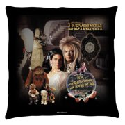 Labyrinth Only Forever Throw Pillow White 20X20