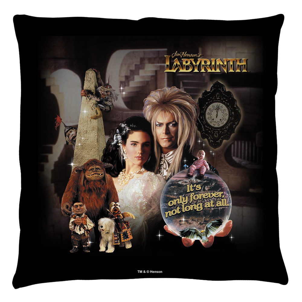 Labyrinth Only Forever Throw Pillow White 14X14