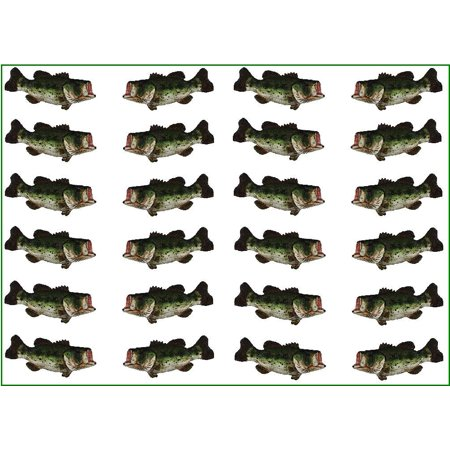 12 Sets Large Mouth Bass Fish Drawer Cabinet Pull Handle Hardware