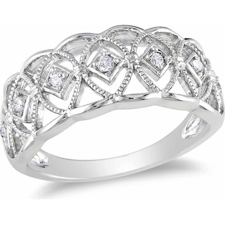 Diamond Accent Sterling Silver Fashion - Accented Fashion Ring