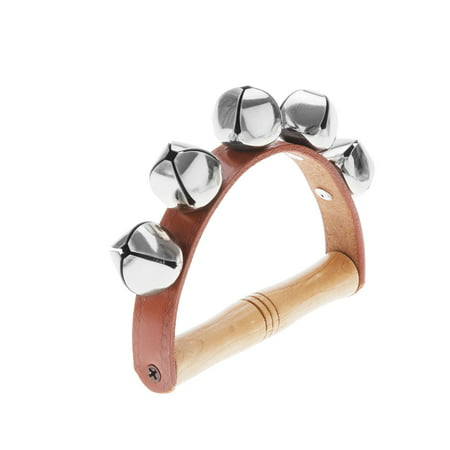 Tambourine Handbell Baby Kid Child Early Educational Musical Instrument Rhythm Beats Shaking Small Jingle Bell Toy Tool