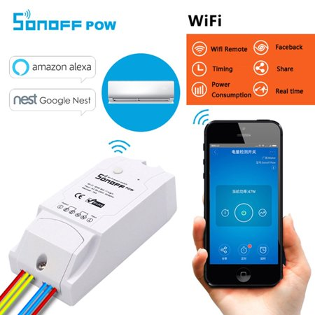 SONOFF TH16 DIY 16A 3500W Smart Home WIFI Wireless Temperature Humidity Thermostat Module APP Remote Control Switch Socket