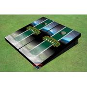Baylor University Arch Field Long Strip Matching Hunter Green Themed Cornhole Boards