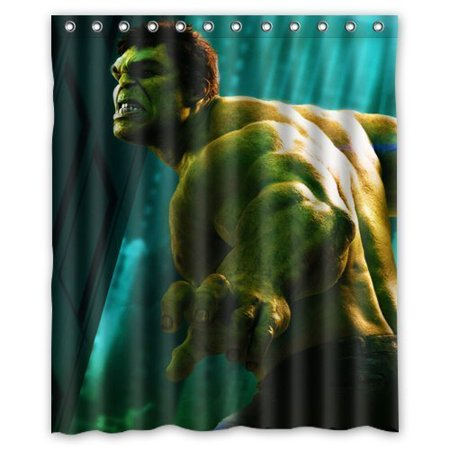 DEYOU The Incredible Hulk Shower Curtain Polyester Fabric Bathroom Size 60x72 Inch