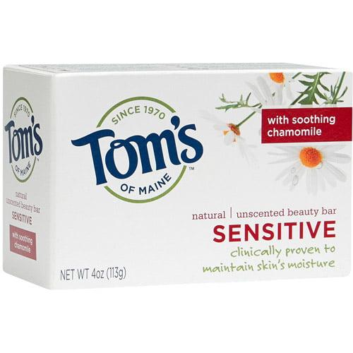 Tom's of Maine Natural Sensitive Beauty Bar Soap, 4 oz