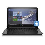 """HP Black 15.6"""" 15-f211wm Laptop PC with Intel Celeron N2840 Processor, 4GB Memory, touch screen, 500GB Hard Drive and Windows 10 Home"""