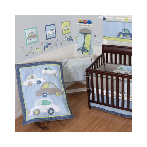 Bundle-78 Sumersault Big Wheels Crib Bedding Collection (3 Pieces)