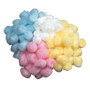 Creativity Street Cotton-Like Polyester Decorated Craft Fluff Ball, Blue, Pack of 100