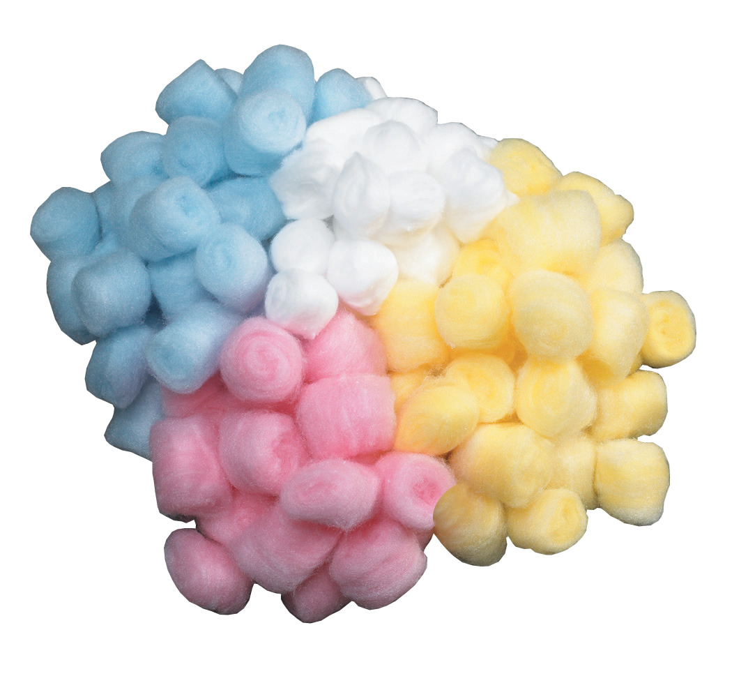 Creativity Street Cotton-Like Polyester Decorated Craft Fluff Ball, Pink, Pack of 100