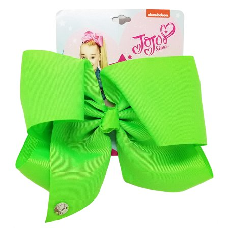 JoJo Siwa Large Cheer Hair Bow (Neon Green) - Halloween Cheer Bows